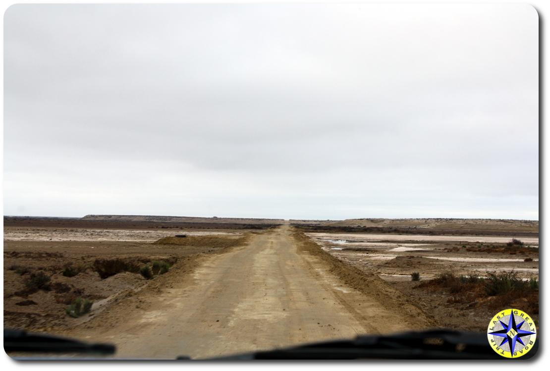baja mexico road through marsh