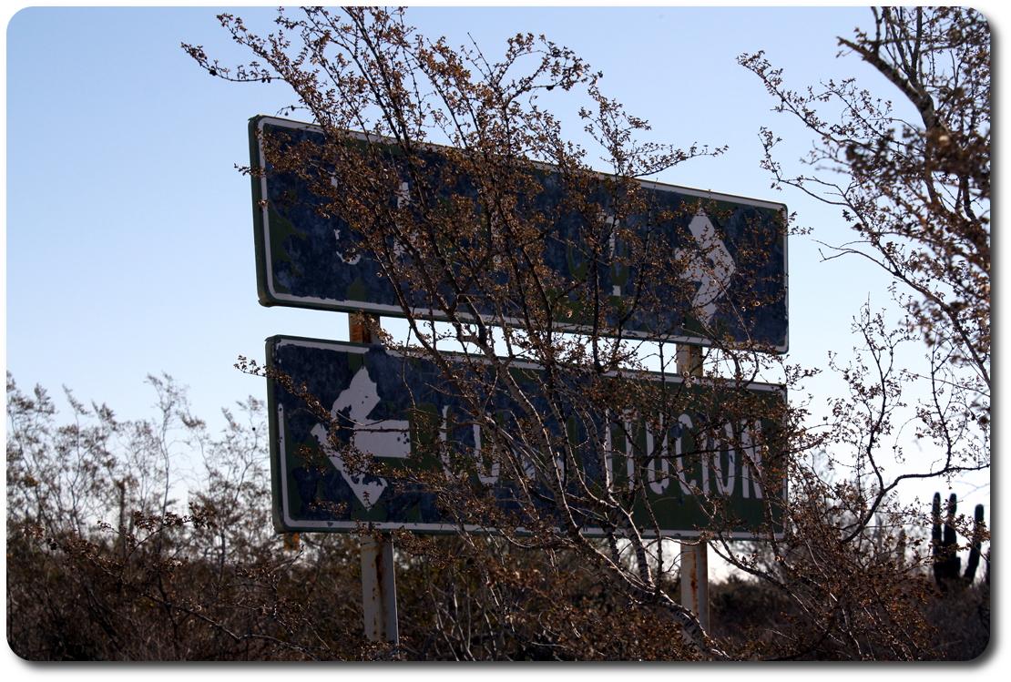 baja road signs