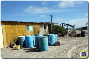 blue barrels baja mexico fishing hut