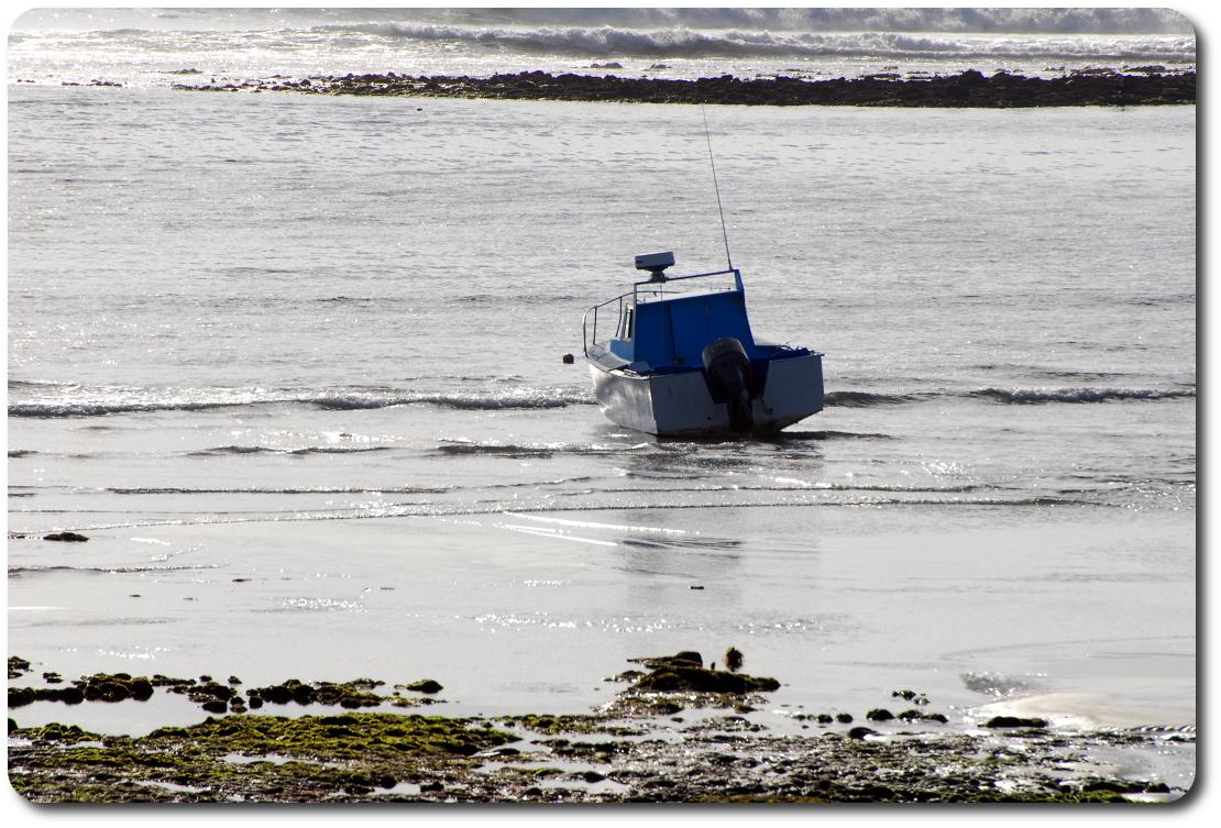 boat on baja beach