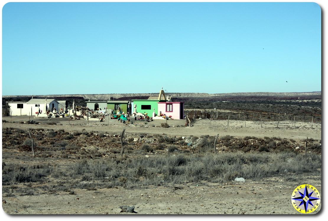 colorful baja mexico graveyard