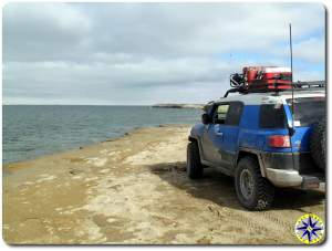 fj cruiser scorpion bay water