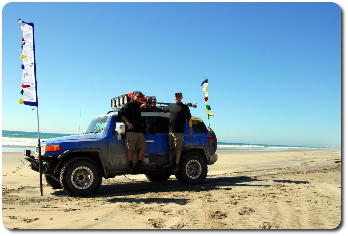 me brad baja beach prayer flags