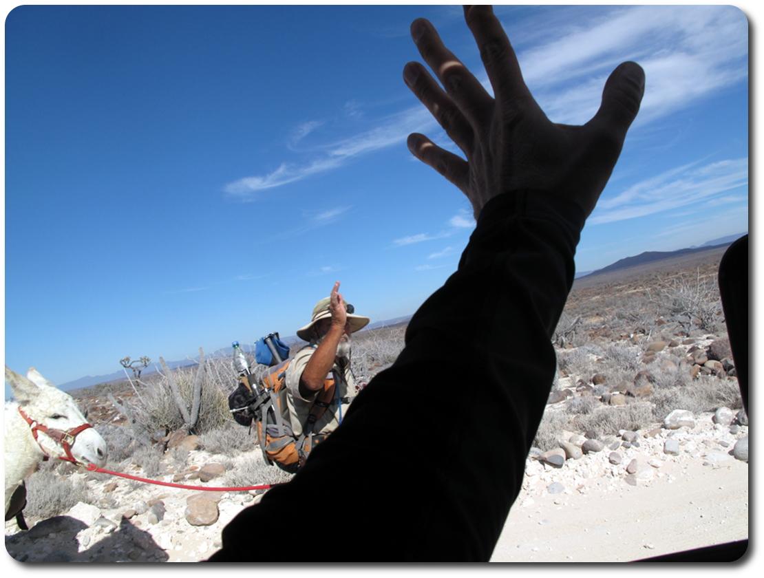 miner waving