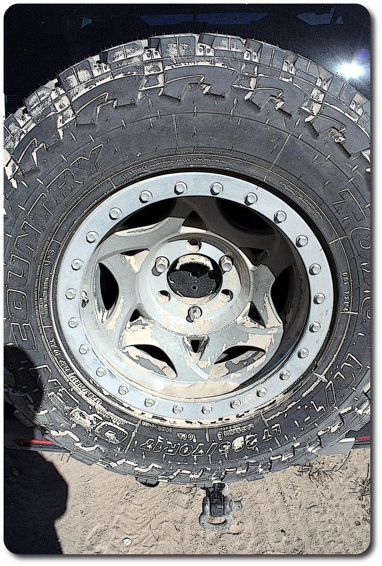 sandy spare tire