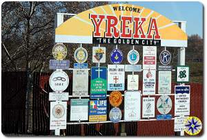 yreka ca city sign