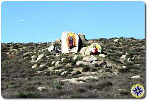 baja road side religious art