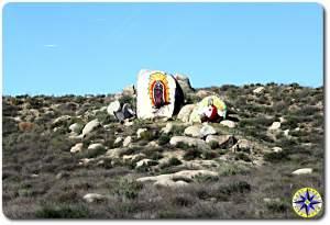 baja road side religious art