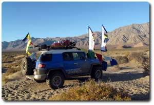 prayer flag on fj cruiser