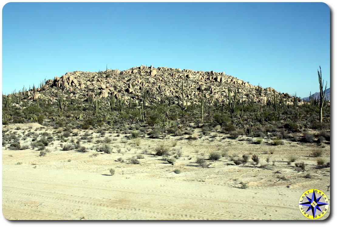 baja desert hill