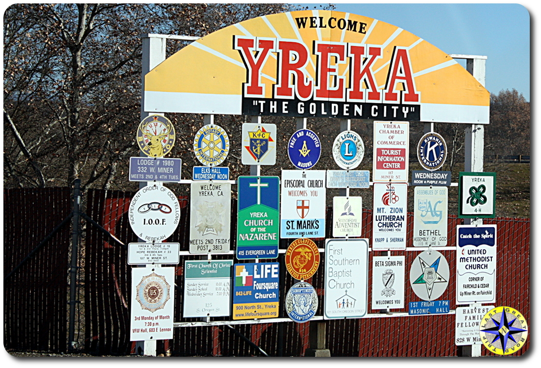yreka welcome sign