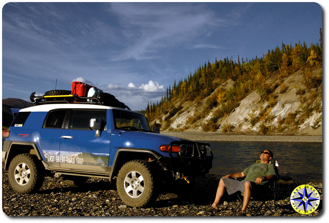 fj cruiser river wiseman alaska