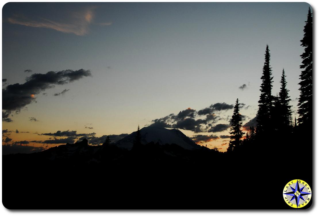 Rainier sundown