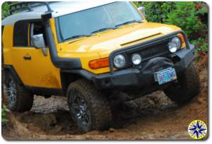 Yellow fj cruiser