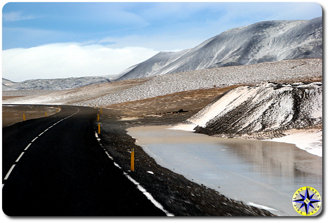 mountain highway snow and ice