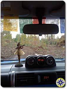 Dashboard hula doll