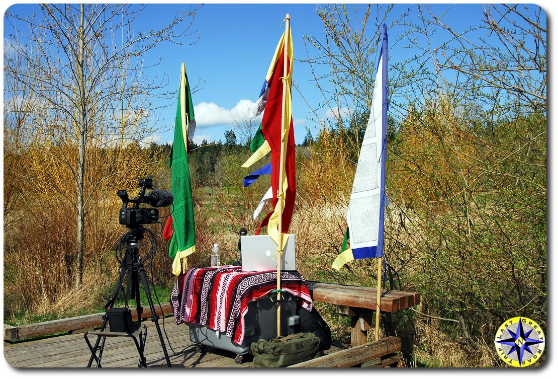 outdoor video shoot