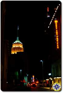 downtown san antonio at night