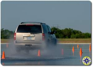 driving on wet vehicle dynamics area
