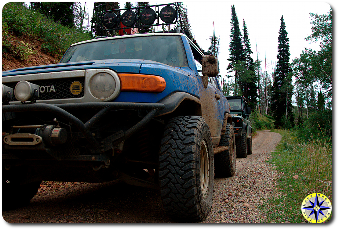 fj cruiser and land rover D90