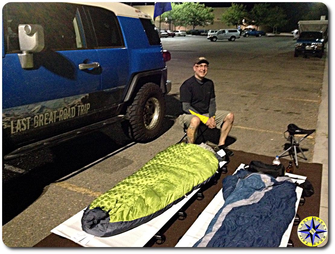 walmart parking lot camping