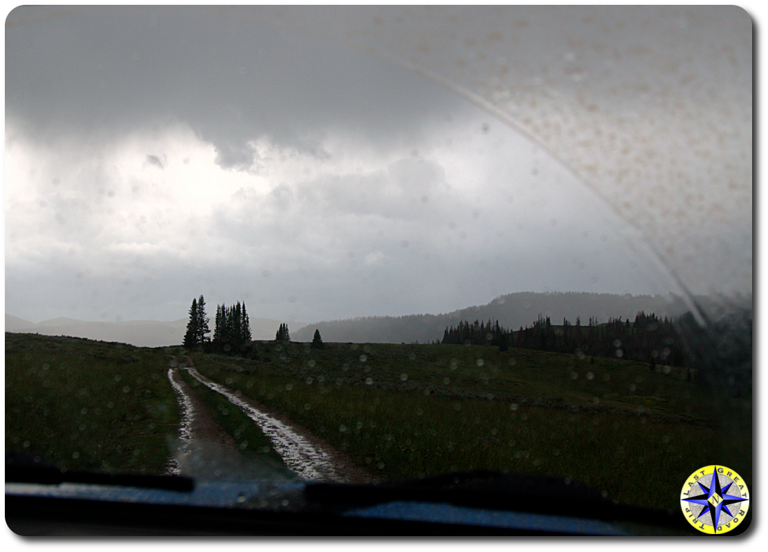 mountain rain storm