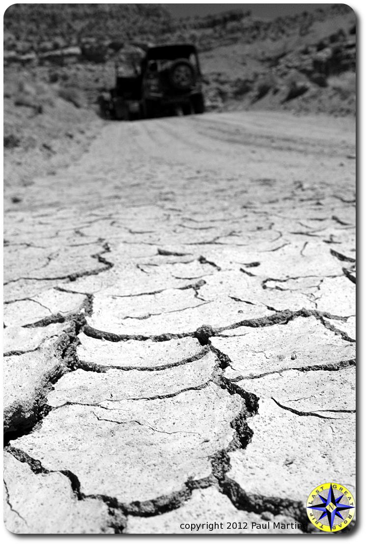 bone dry dirt road