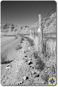 utah back road fence line