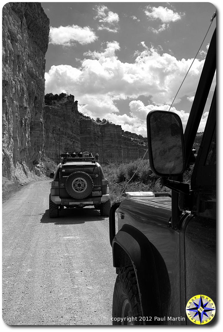 fj cruiser in canyons