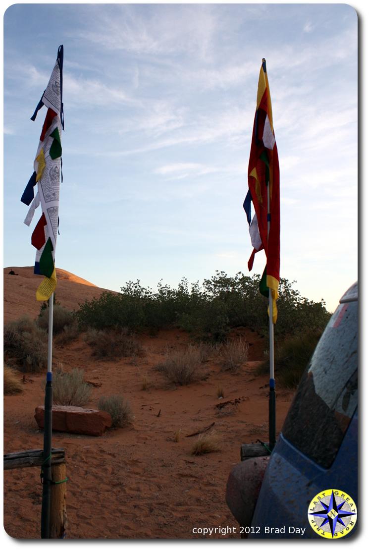 still prayer flags