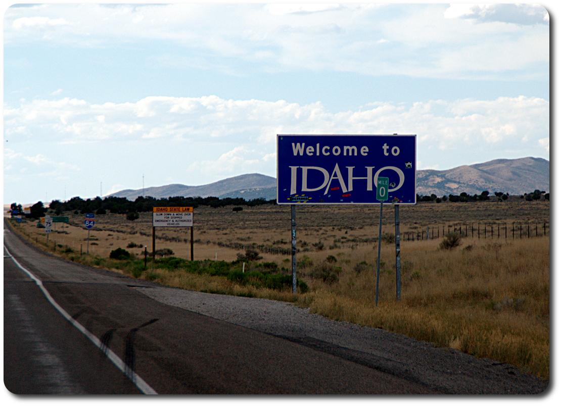 idaho welcome sign