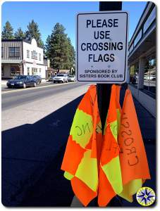 crossing flags