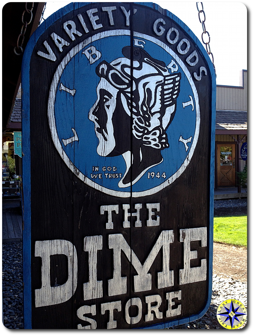 liberty dime store sign