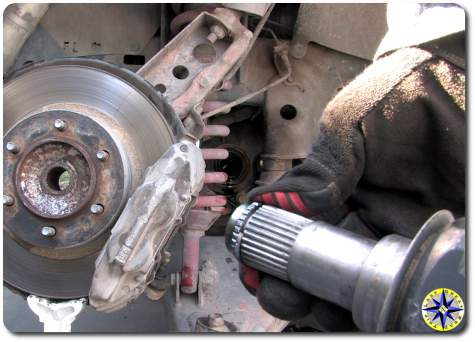 toyota fj cruiser drive shaft splines and snap ring
