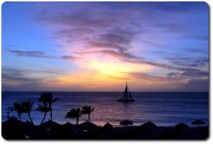aruba sun set