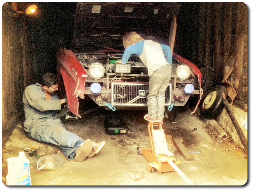 father son wrenching