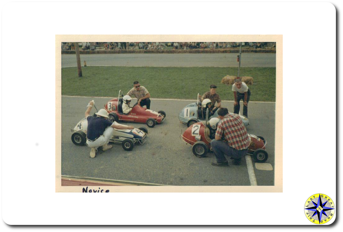 novice go-cart racers