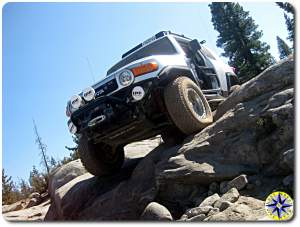 toyota fj cruiser on rubicon trail