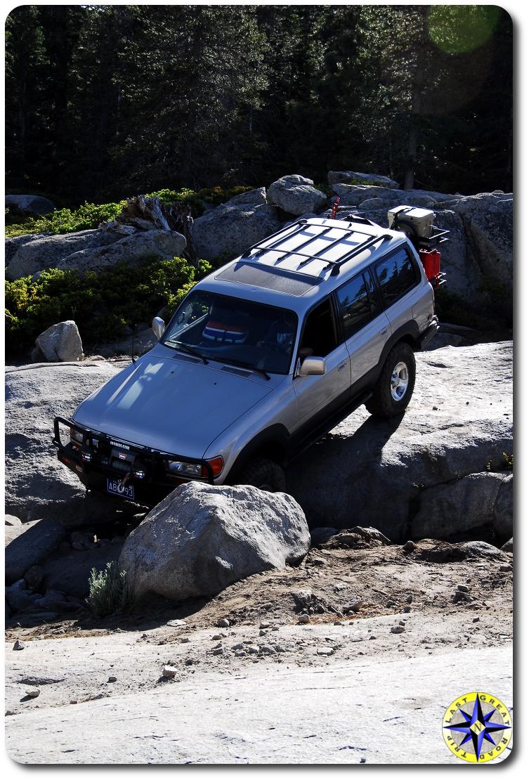 fj 80 on Rubicon trail
