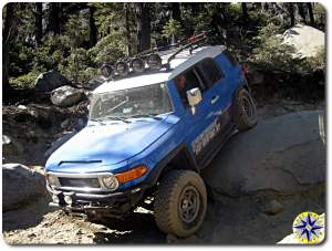 toyota fj cruiser on rubicon