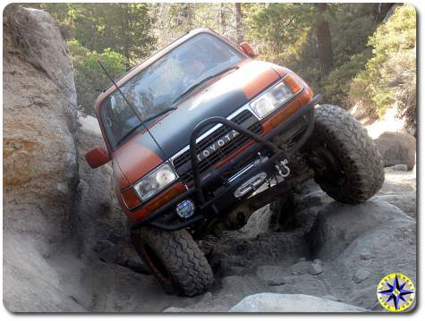 toyota fj80 on rubicon trail