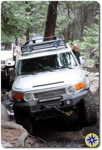 FJ cruiser on rubicon trail