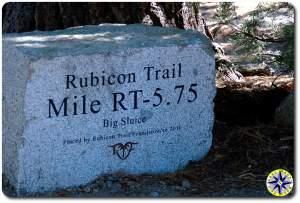 Rubicon trail marker