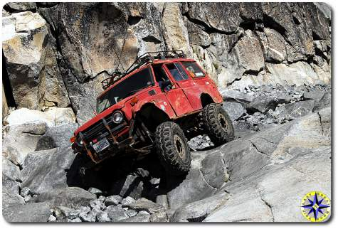 red land cruiser Little Sluice rubicon trail