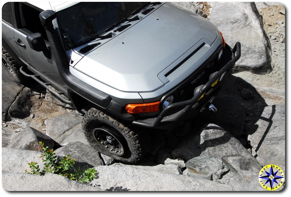 blown tire bead on rubicon trail