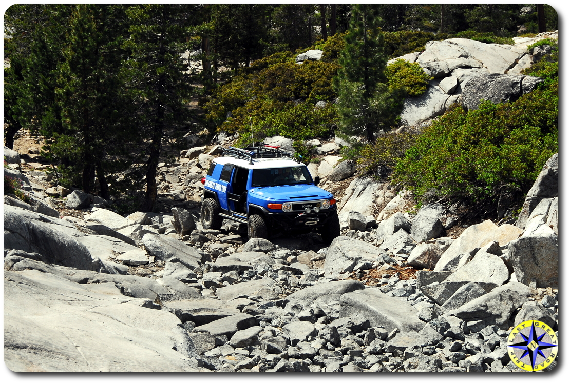 fj cruiser little sluice rubicon trail 1
