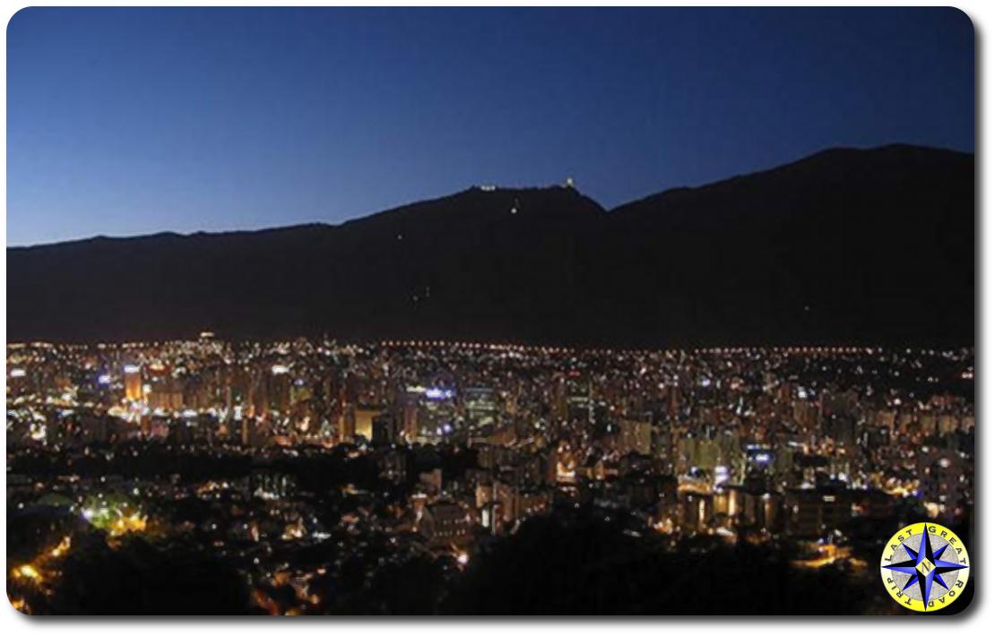 caracas venezuela lights at night