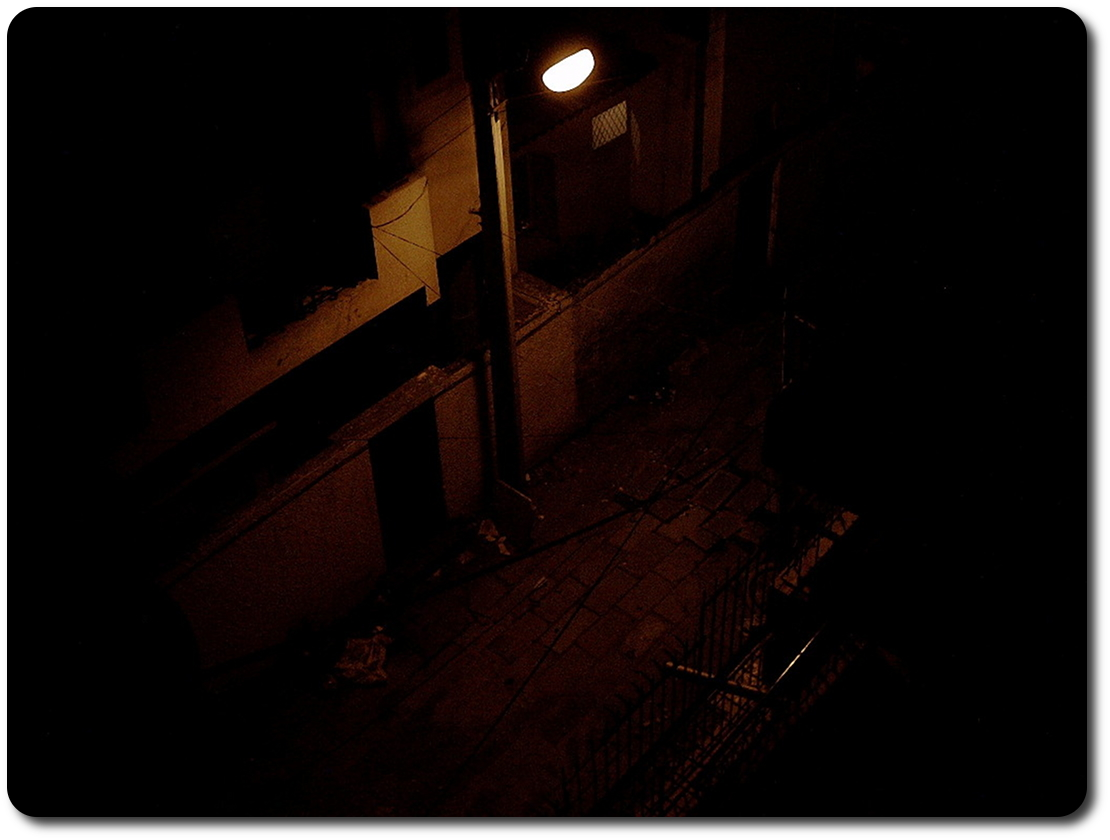 back alley at night