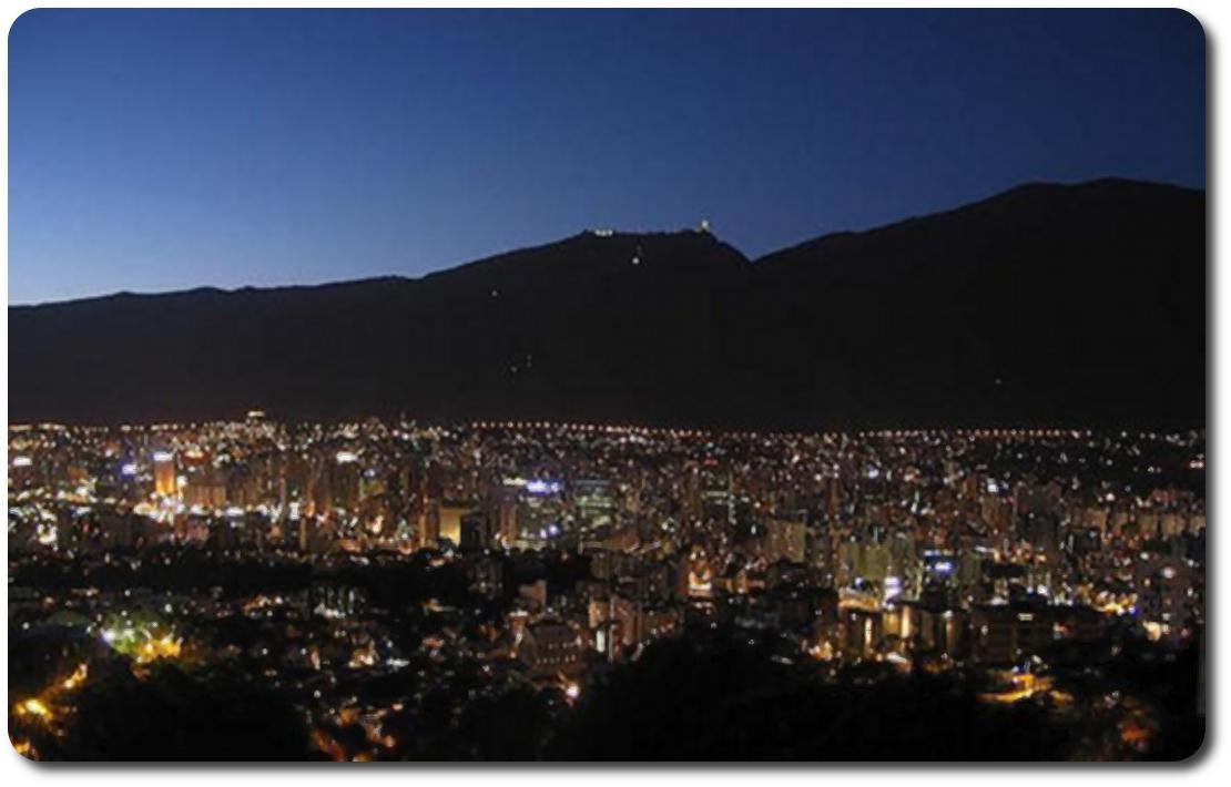 caracas lights at night