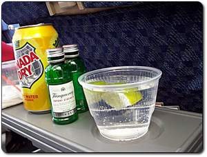 drinks on airplane